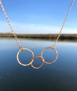 Triple Trinity Necklace