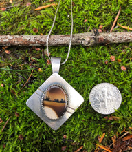 Montana Agate Pendant Necklace