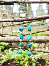 Turquoise Daisy Chain Earrings