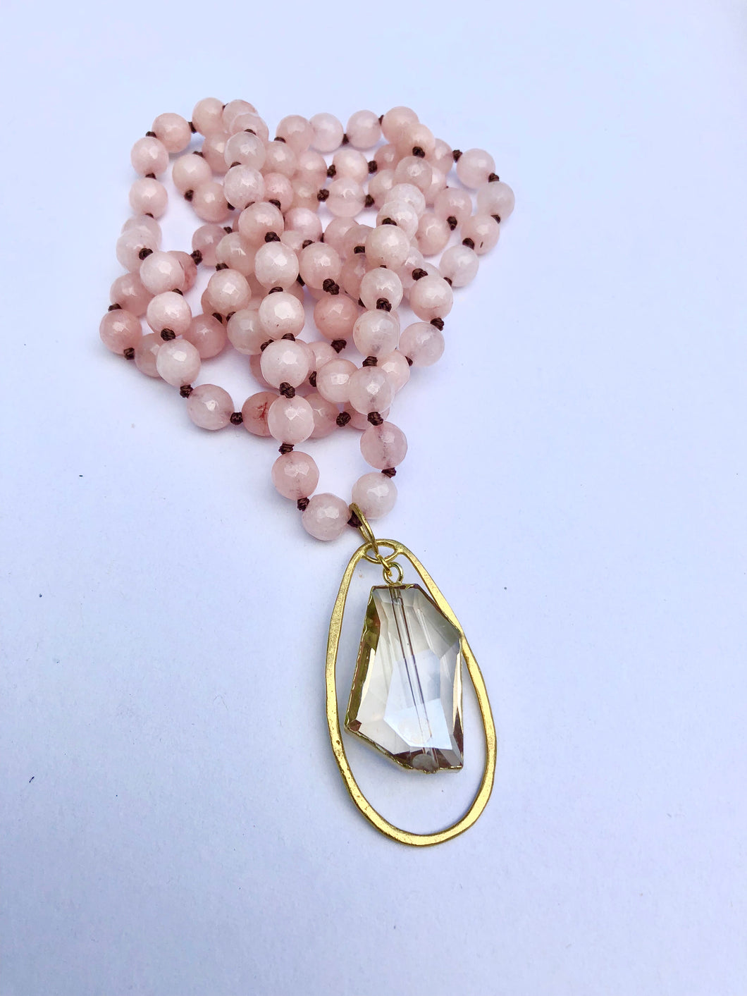 Rosey Quartz Mala Necklace
