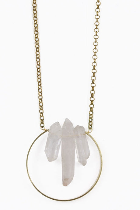 Crystal Trio Long Necklace