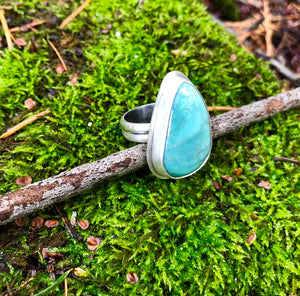 Broken Arrow Turquoise Ring
