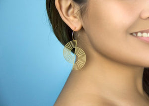 Split Circle Geometric Earrings