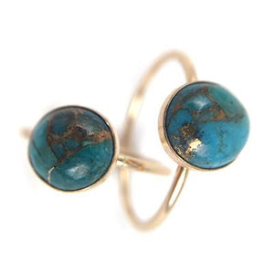 Turquoise & Copper Boho Ring