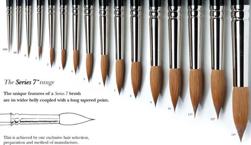 Art - Supplies - Winsor & Newton Series 7 Sable Brushes