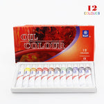 Professional Brand Oil Paint Canvas Pigment Art Supplies Acrylic Paints Each Tube Drawing 12 ML 12 Colors Set AOA031