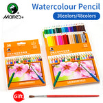 Marie's 36/48colors Water Soluble Colored Pencils lapis Water-Soluble Color Pencil For Artist School Art Supplies