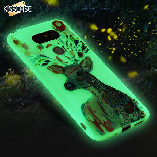 KISSCASE Luminous Case For LG G5 Art Print Soft Silicon Rubber Soft TPU Phone Cases Back Cover Accessories For LG G5 Fundas