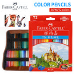 Faber-Castell 72 Colored Pencil Professional Lapis De Co r Artist Painting Oil Color Pen For Drawing Sketch School Supplies