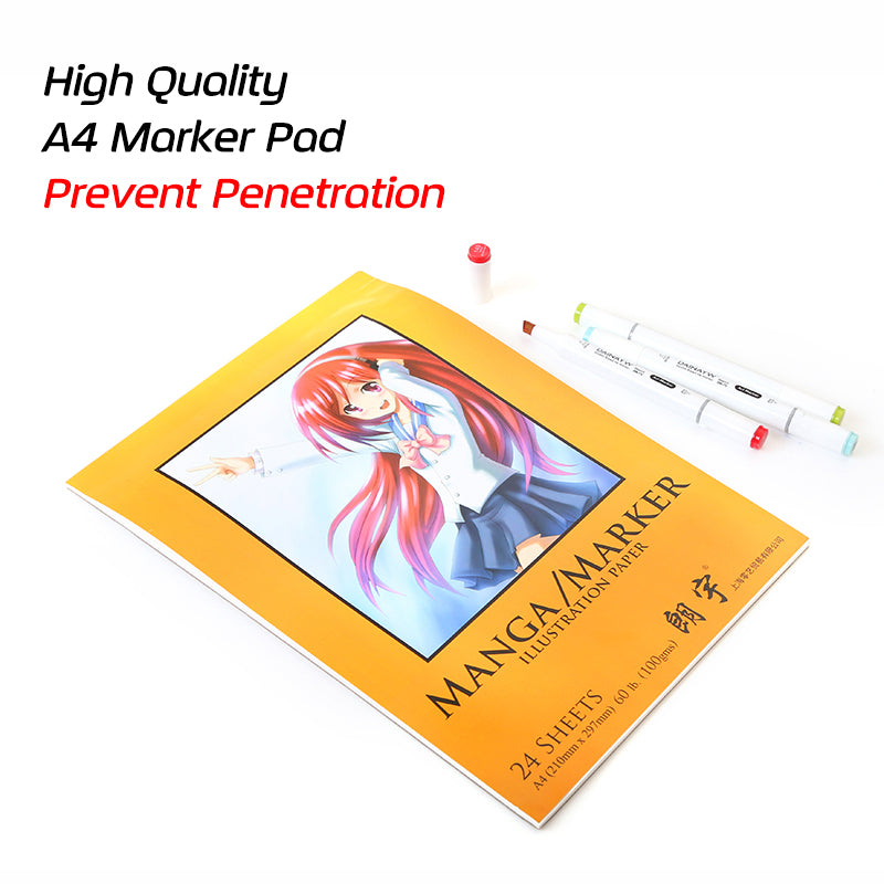 Prevent Penetration A4 Marker Pad Watercolor Book Paper Designer Coloring Design For Sketch Manga Draw Book School Art Supplies