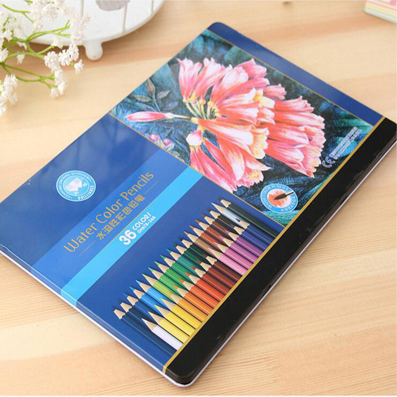 12 24 36 Colors set Colored Pencils Drawing Sketches Painting Colorful Watercolor Pen For Student Art Supplies Paint Pencil