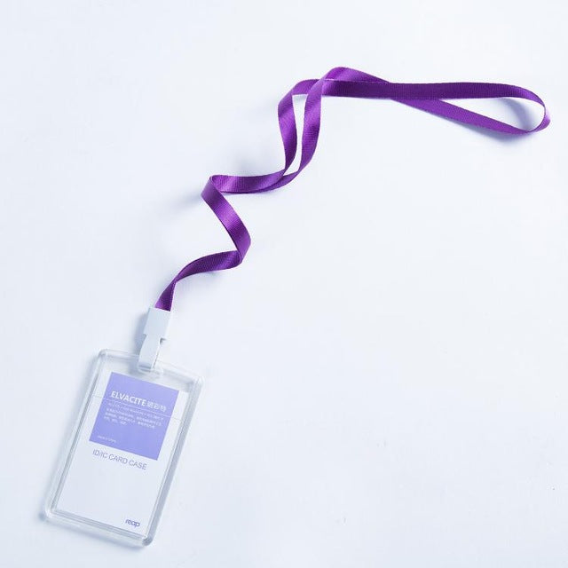 standard Size Badge Holder & Accessories Transparent Acrylic Crystal Staff Identification Card Name Badge Id Card Access Exhibition Badge With Lanyards Back To Search Resultsoffice & School Supplies
