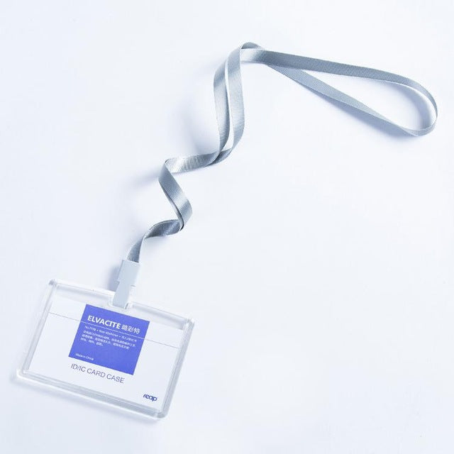 Transparent Acrylic Crystal Staff Identification Card Name Badge Id Card Access Exhibition Badge With Lanyards Labels, Indexes & Stamps standard Size