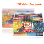 150 Colors Soft Watercolor Pencils Wood Water Soluble Coloured Pencils Set For Lapis De Cor Painting Sketch School Art Supplies