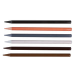 MEEDEN 6 Colors Woodless Graphite Pencils Skin Colored Pencils Skin Tone Pencil Set for Drawing Supplies