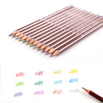 Superior 12Colors Metallic Colored Pencil Non-toxic Wood Colour Pencil Set For Artist's Professional Drawing Write Art Supplies