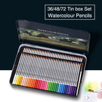 KNOW 36 48 72 Watercolor Coloured Pencils Set Tin box Water Soluble Colored Pencil For Gifts Writing Drawing School Art Supplies