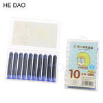 Wholesale Price 10PCS Disposable Blue Fountain Pen Ink Cartridge Refills Length Fountain Pen Ink Cartridge Refills