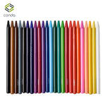 Conda 24pcs Woodless Colored Pencils Watercolor Painting Non-toxic water-soluble Oil Pencil Writing Pen Soft-Core-Pre-sharpened