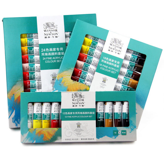 10ML 12colors/lot WINSOR & NEWTON Acrylic Paints set Hand-painted wall painting textile paint colored Art Supplies