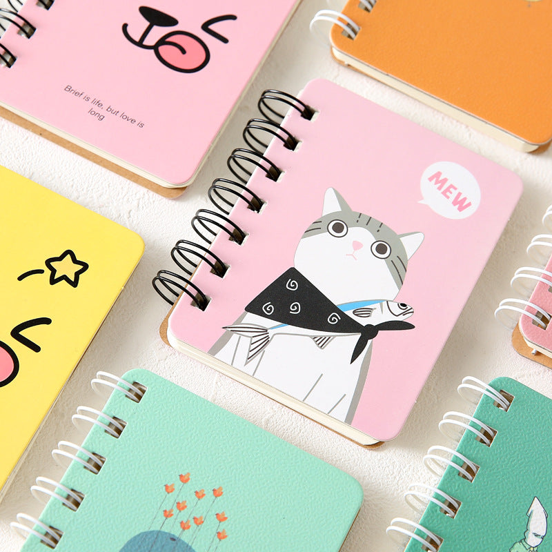 2018Planner Stickers Organizador  Coils Portable Notebook Mini Trumpet Pocket Bookstationery Student Stationery Office Memo Pad