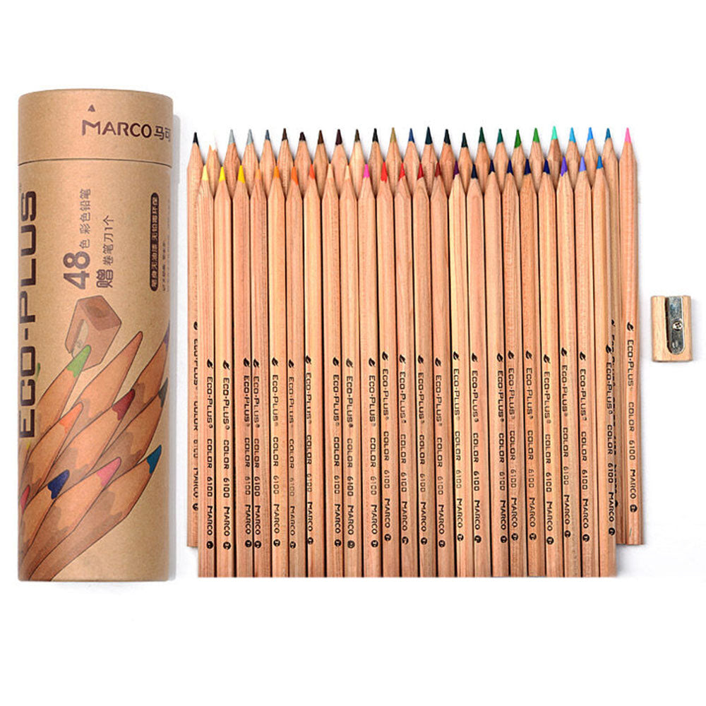 Meeden 24/48 Colors pencils wooden set for Drawing Crayon Stationery Office school art supplies easy Drawing pen for chidren