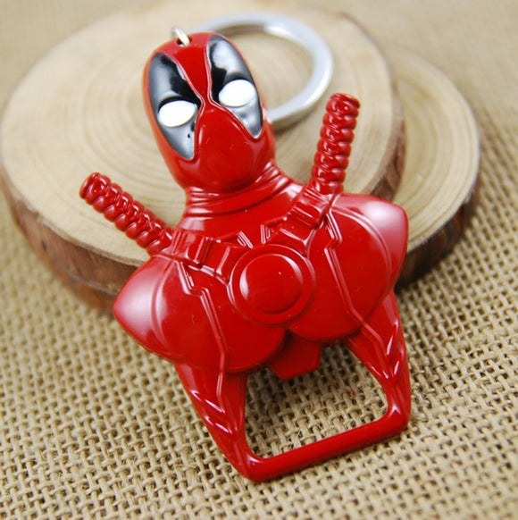 Red Deadpool Keychain Bottle Opener