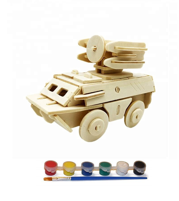 Original Hobby Wood Craft 3D Puzzle (Radar Truck)