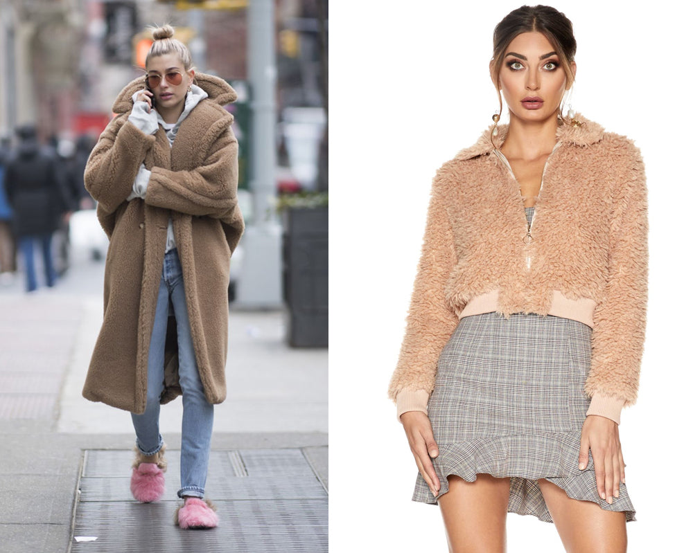 Hailey Baldwin Camel Coat | New York Winter 2018 | SOFIA THE LABEL