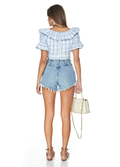 LUKA CROP - Gingham SOFIA The Label
