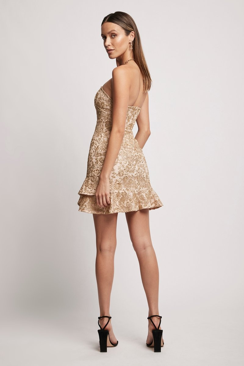 RADIATE STRAPLESS MINI - Gold Dresses SOFIA The Label