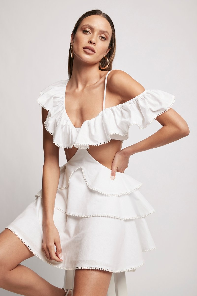 ROSÉ DRESS - WHITE Dresses SOFIA