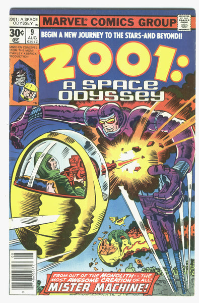 2001:  A Space Odyssey #9 second Mister Machine Bronze Age Kirby Key VF-