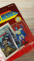 ERTL DC Comics Super Heroes Die-Cast Metal Batman Sealed on UNPUNCHED Card HTF!
