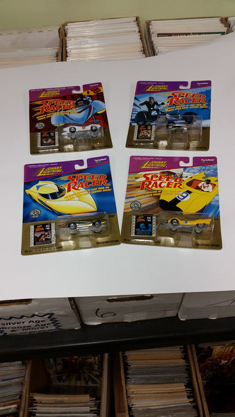 Speed Racer Johnny Lightning Die Cast Complete Set of Four 1997 Sealed New Fresh from Storage