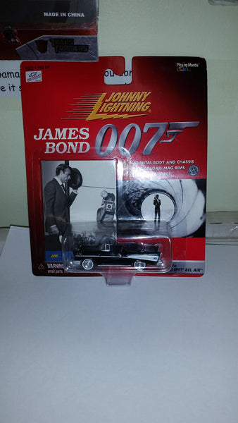 Johnny Lightning James Bond 007 Dr. No '57 Chevy Bel Air Playing Mantis 1999 Sealed On Card New!
