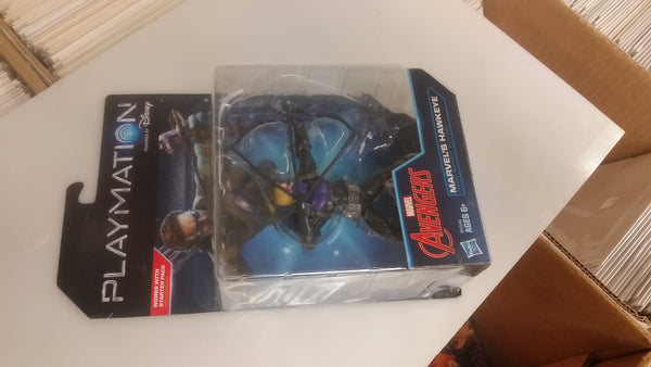 Marvel Avengers Playmation Hawkeye Action Figure Sealed on Card