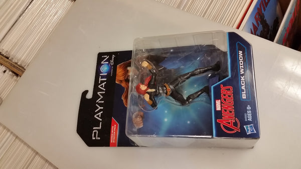 Marvel Avengers Black Widow Action Figure Playmation Disney Sealed On Card
