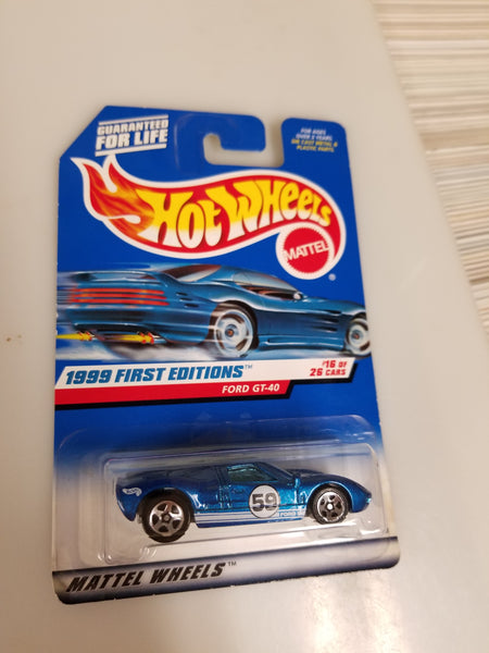 Hot Wheels Ford GT-40 1999 First Edition Die-Cast Sealed On Card New