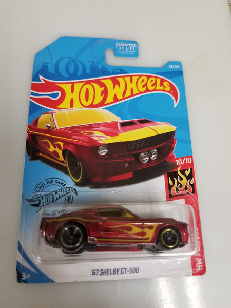 Hot Wheels '68 Shelby GT 500 2018 HW Flames Series 5/10 Sealed On Card New