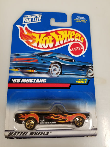 Hot Wheels '65 Mustang Collector #1051 1998 Sealed On Card New