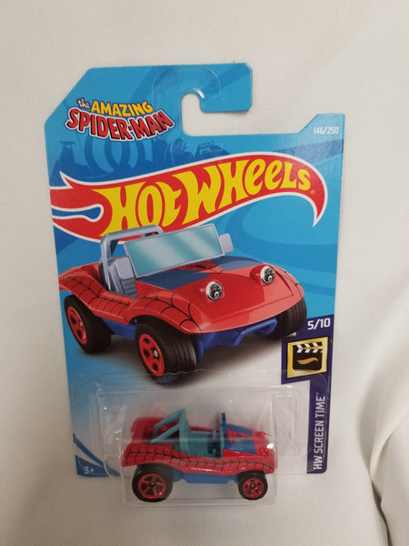 Hot Wheels Spider-Mobile (from Amazing Spider-Man :) Die-Cast HW Screen Time Series #5/10 Sealed On Card New