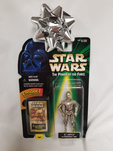 Star Wars Power Of The Force C-3PO w/ Removable Arm Action Figure Sealed on Green Card New