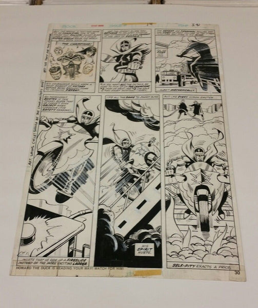 Ghost Rider Bronze Age Original Art #14 Page 30 Tuska Art Johnny Blaze