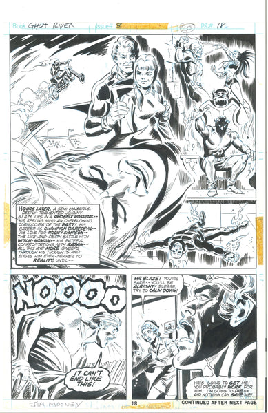 Ghost Rider #3 Page 18 Bronze Age Jim Mooney Original Art