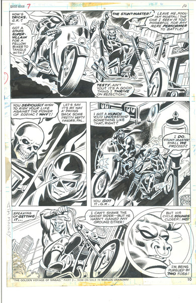 Ghost Rider #7 Page 10 Bronze Age Original Jim Mooney Comic Art