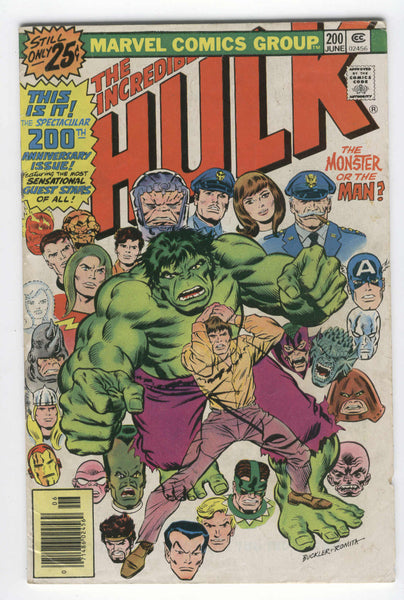 Incredible Hulk #200 The Monster Or The Man Bronze Age Key VG