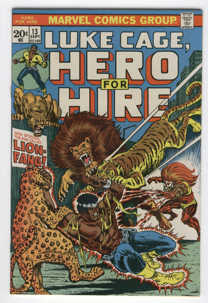 Luke Cage Hero for Hire #13 Lion-Fang app Bronze Age  VGFN condition