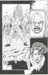 George Perez I-Bots #2 Pg 7 Original Art Bill Clinton Excellent !