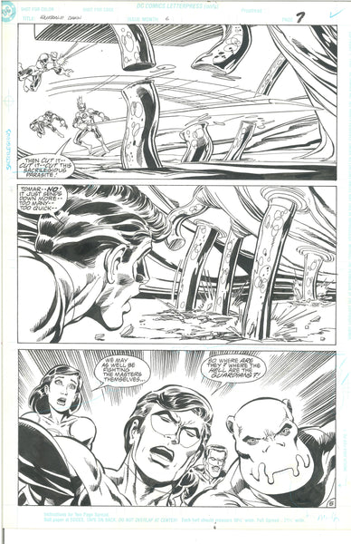 Green Lantern Emerald Dawn #6 Pg 5 Original Artwork Mark Bright 1990